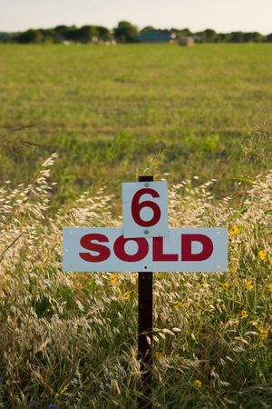 Field marked as number 6 has been sold.