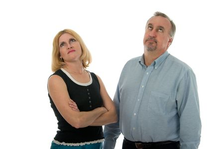 irritable: Man and woman in an argument.
