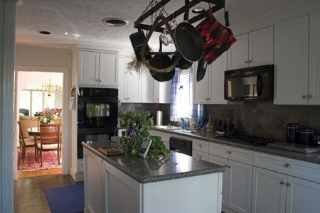 light and bright gourmet kitchen