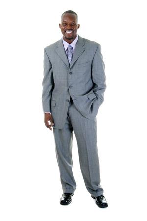 Handsome man in grijs pak.