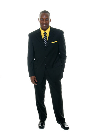 Handsome man in black business suit. Stock Photo - 1397448