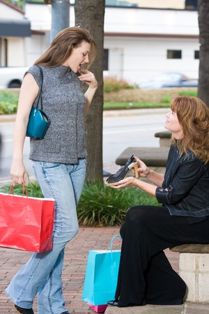 Mother and daughter on a shopping trip together in the city. Stock Photo - 4504466