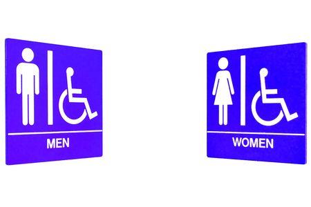 Men Women Restroom Sign photo