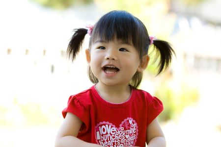 Close up of an Asian chinese child