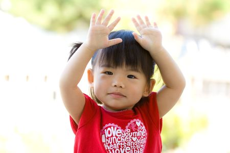 Little Asian Chinese girl photo