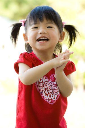 Little Asian Chinese girl Stock Photo
