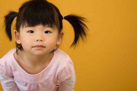 아시아 중국 아기의 초상화 촬영 스톡 콘텐츠