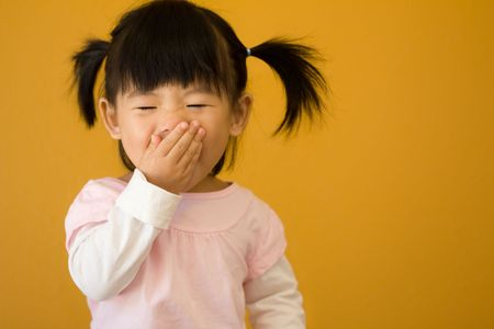 アジアの中国の赤ん坊の子供のポートレート撮影
