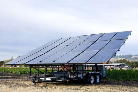 Alternative energy source, blue solar cells panel photo