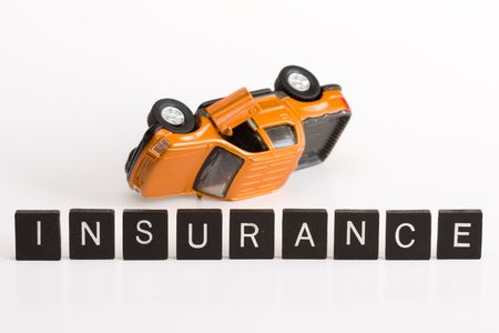 car model: Conceptual car insurance using letters alphabet and car model