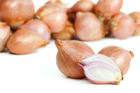 Shallots isolated on white background  Stock Photo - 6544018