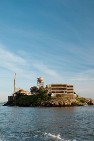 Alcatraz Island is a small island located in the middle of San Francisco Bay in California Stock Photo - 6544025