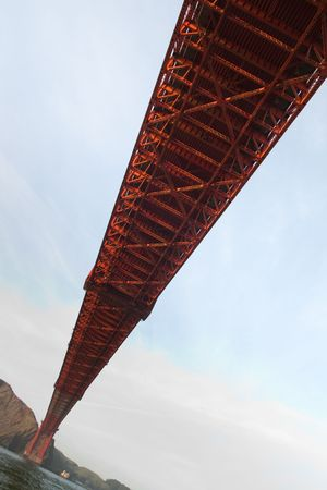 View of famous Golden Gate bridge in San Francisco from below Stock Photo - 6544027
