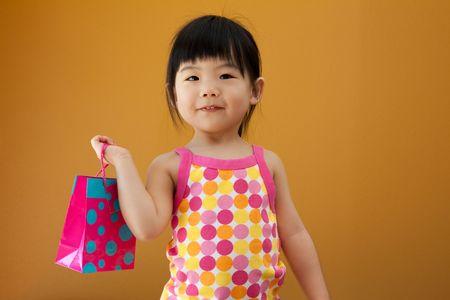 Portrait of a little Asian baby child girl Stok Fotoğraf