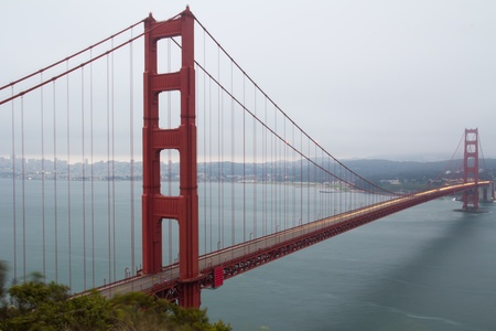 View of famous San Francisco Golden Gate bridge during cloudy day Stock Photo - 10373986