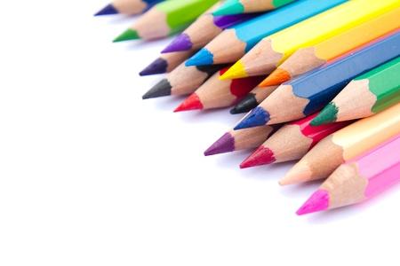 Espectro de lápices de colores sobre fondo blanco. Foto de archivo - 12418622