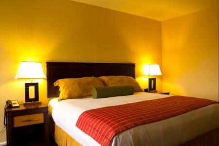 hospedaje: Interior de una sala de romanticismo clásico de la cama