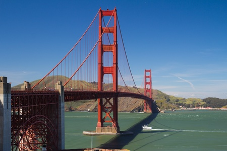 View of famous San Francisco Golden Gate bridge Stock Photo - 13506309