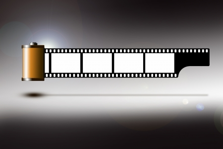 Illustration of a roll of 35mm film strip Stock Photo