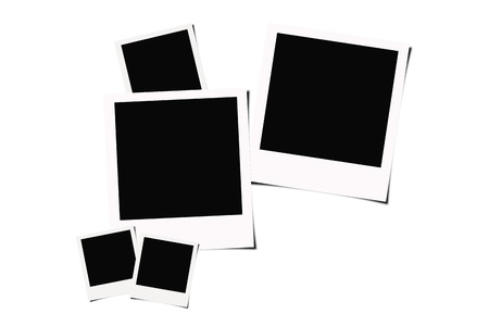 instant films isolated on white background photo
