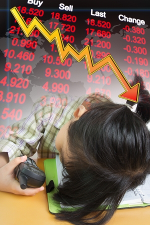 global crisis: Economy reccession and stock market declining conceptual