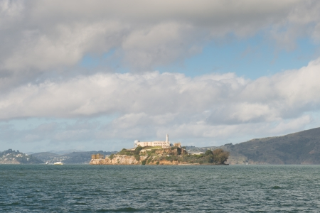 Alcatraz Island is a small island located in the middle of San Francisco Bay in California Stock Photo - 17090861