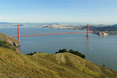 Panorama view of famous Golden Gate bridge, San Francisco Stock Photo - 17090943