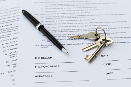 Juridisch document voor de verkoop van onroerend goed