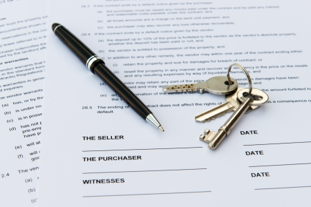 Legal document for sale of real estate property photo