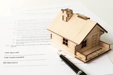 不動産の特性の販売のための法的文書 写真素材