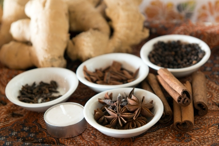 Spa elements with the focus on anise stars