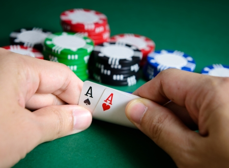 double the chances: Hand show pair of aces chance of winning