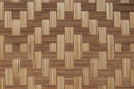 rattan mat: Bamboo mat arranged in cross pattern background