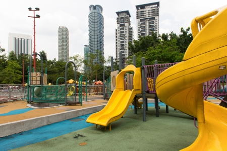 Playground in the city yard on sunny day Stock Photo - 21844199