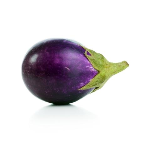 brinjal: Close-up image of eggplant isolated on white background Stock Photo