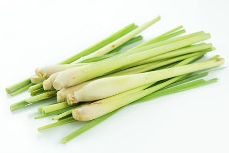 lemongrass: Bunch of lemongrass isolated on white background