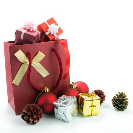 Christmas theme decroration isolated on white background