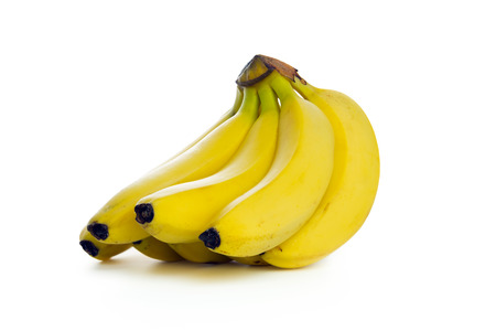 ripen: Bunch of ripen banana isolated on white background Stock Photo