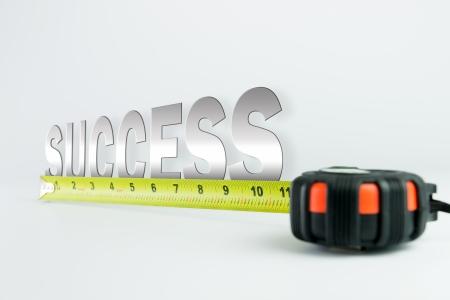 Measure of success concept using ruler 写真素材