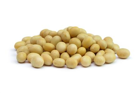 soya bean: Close up of soya beans on white