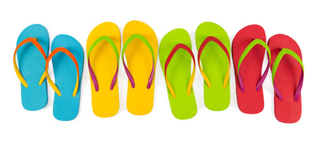 footgear: Realistic flip flop sets with different color combination