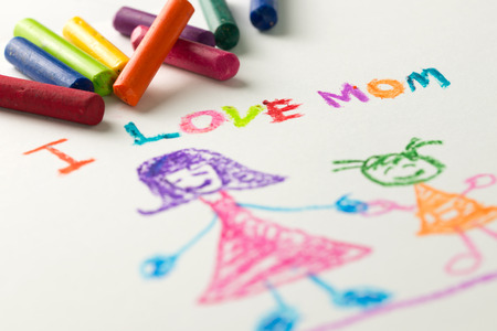 mothering: Child drawing of her mother for mothers day