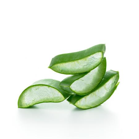 aloe vera background: Aloe vera slices isolated on white backgorund Stock Photo