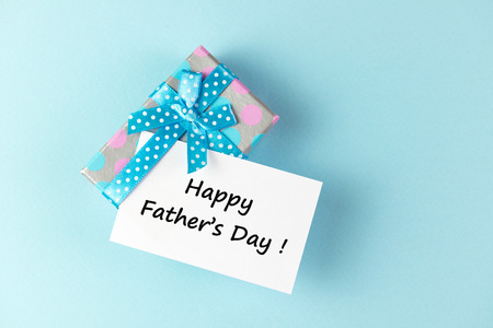Gift box with happy father photo