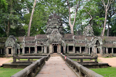 angkor thom: Angkor Thom temple inside Angkor complex in Siem Reap, Combodia Stock Photo