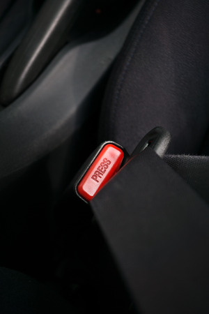 fasten: Car safety concept illustrated with fasten seatbelt