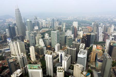 Kuala Lumpur, capital of Malaysia cityscape view taken from KL tower
