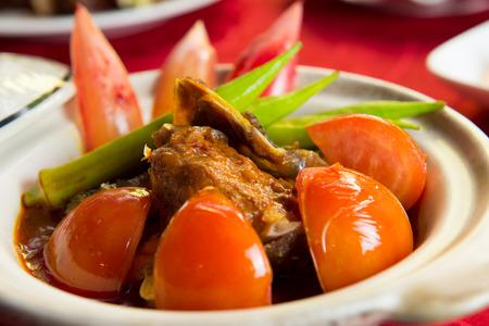 Chinese style claypot curry fish head meal Zdjęcie Seryjne