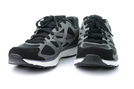 running shoes: Close up of men sport shoes on white background