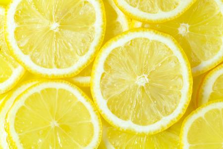 Close up of fresh slices of lemon Фото со стока
